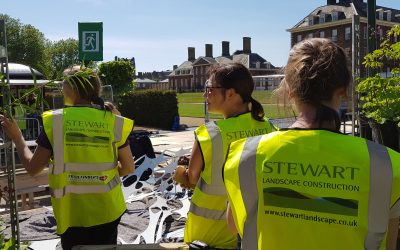 Assisting at Chelsea Flower Show