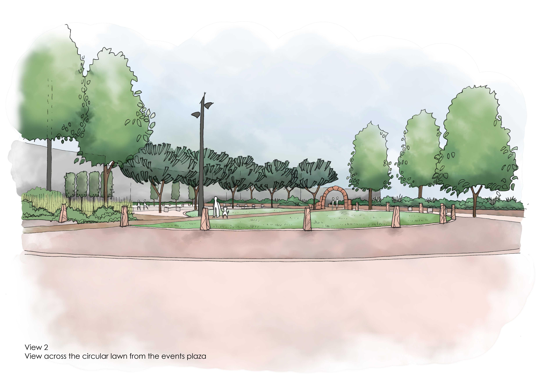 GUARDA Sketch of Circular Lawn