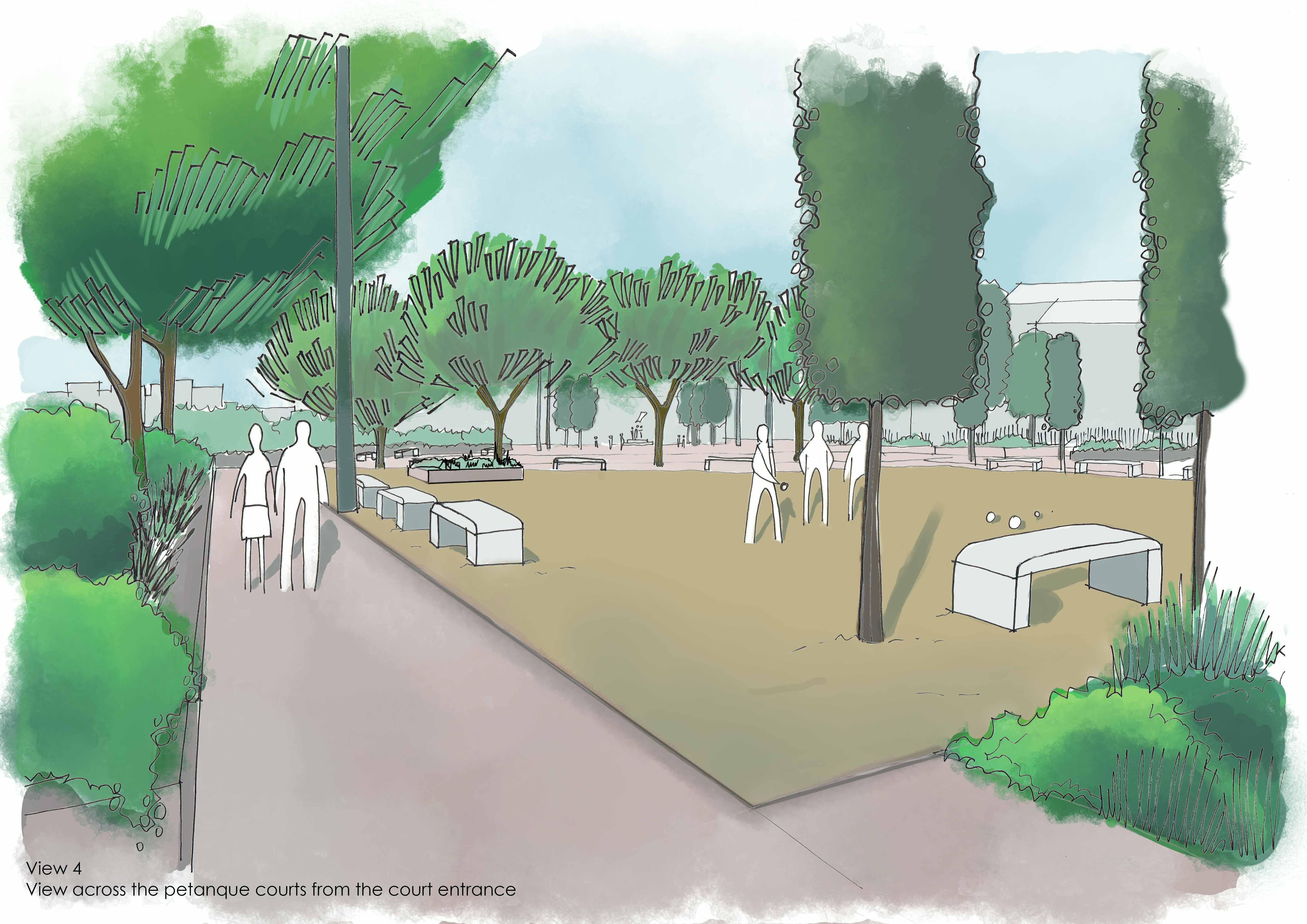 GUARDA Sketch of Petanque Area